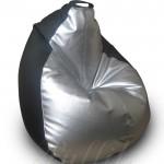 серебристо-черное (кожзам)